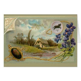 De Verjaardag van maart Briefkaarten 0