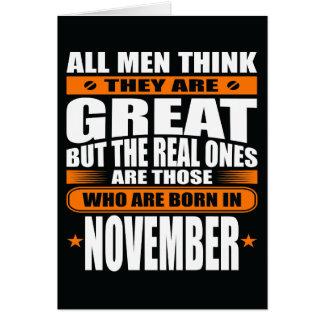 De Verjaardag van november (voeg Uw Tekst toe) Kaart