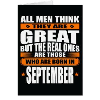De Verjaardag van september (voeg Uw Tekst toe) Kaart