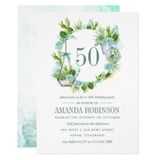 De Verjaardag van Succulents vijftigste van de Kaart