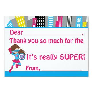 De Verjaardag van Superhero van meisjes vult dankt Kaart