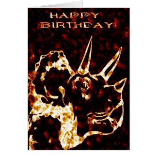 De Verjaardag van Triceratops van Firey Kaart