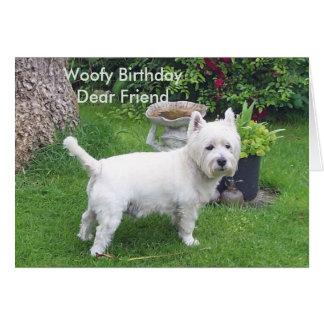 De Verjaardag van Woofy aan beste vriend Kaart