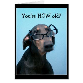 De verjaardags grappig wenskaart van de hond