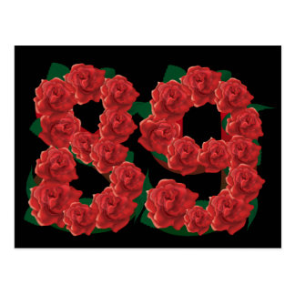 De verjaardagsbloem van nummer 89 of briefkaart