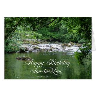 De verjaardagskaart die van de schoonzoon een kaart
