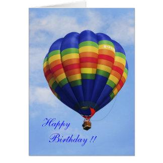 De verjaardagskaart van Ballooning van de Hete Kaart