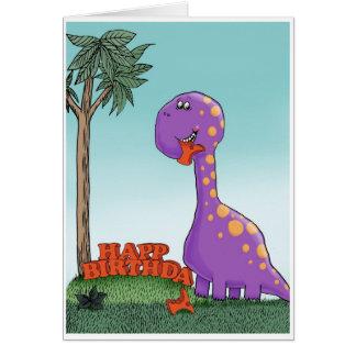 De verjaardagskaart van de dinosaurus wenskaart
