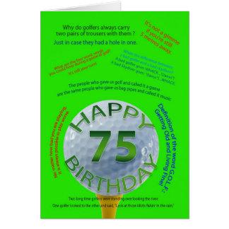 De verjaardagskaart van de Grappen van het golf Briefkaarten 0