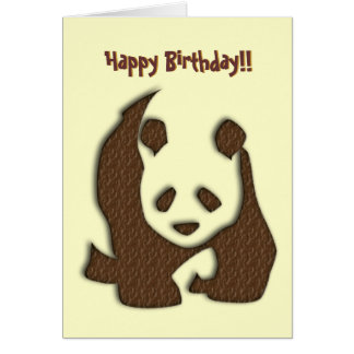 De verjaardagskaart van de Panda van de chocolade Briefkaarten 0