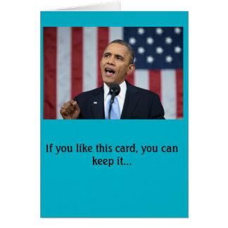 De verjaardagskaart van Obama van het president Briefkaarten 0