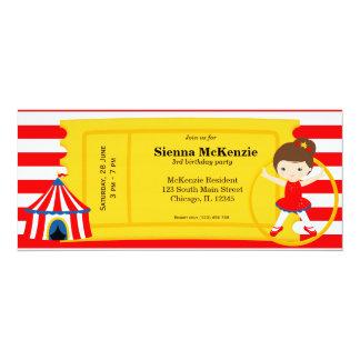 De verjaardagskaartje van het circus 10,2x23,5 uitnodiging kaart