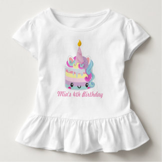 De verjaardagsoverhemd van de eenhoorn kinder shirts