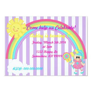 De verjaardagsuitnodiging van Candyland 12,7x17,8 Uitnodiging Kaart