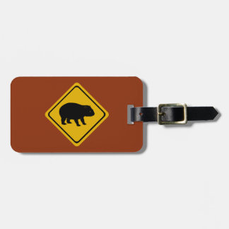 De verkeersteken van Aussie - wombat - elektronika Kofferlabel