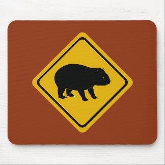 De verkeersteken van Aussie - wombat - elektronika Muismatten