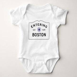De Verkeersteken van Boston Massachusetts Romper
