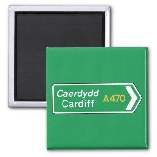 De Verkeersteken van Cardiff, het UK Magneet