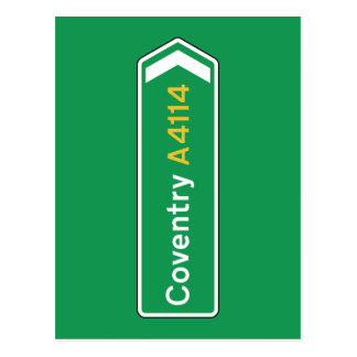 De Verkeersteken van Coventry, het UK Briefkaart