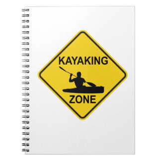 De Verkeersteken van de Streek van Kayaking Notitieboek