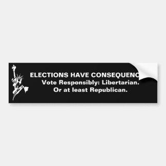 De verkiezingen hebben Gevolgen Bumpersticker
