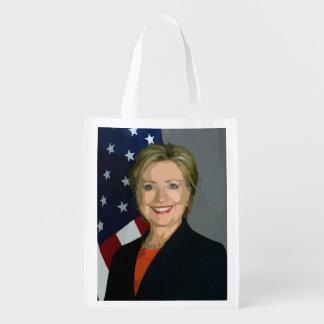 De verkiezings 2016 Opnieuw te gebruiken Zak van Herbruikbare Boodschappentas