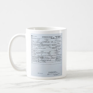 De verklaarde Oorspronkelijke Geboorteakte van Koffiemok
