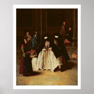 De verkoper van het Parfum (olie op canvas) (zie a Poster