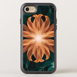 De verleidelijke Turkooise en Oranje Fractal Lelie OtterBox Symmetry iPhone 8/7 Hoesje