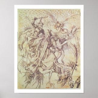 De verleiding van St. Anthony (gravure) Poster
