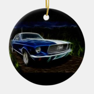De verlichting van de auto rond keramisch ornament