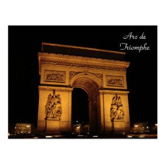 De Verlichting van Parijs: Arc DE Triomphe Briefkaart