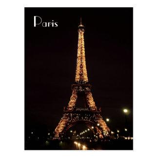 De Verlichting van Parijs: De toren van Eiffel Briefkaart