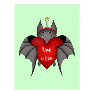 De verliefde gotische knuppel van Kerstmis met Briefkaart