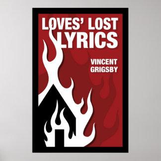 De Verloren Lyrische gedichten van liefdes Poster