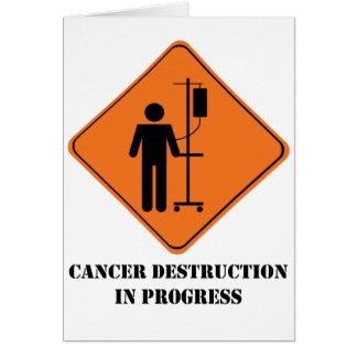 De vernietigings lopend wenskaart van kanker