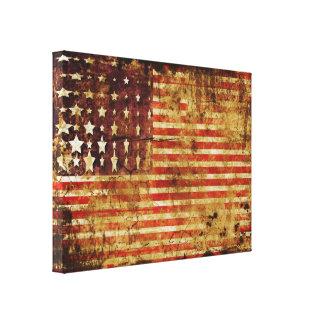 De verontruste Amerikaanse Omslag van het Canvas