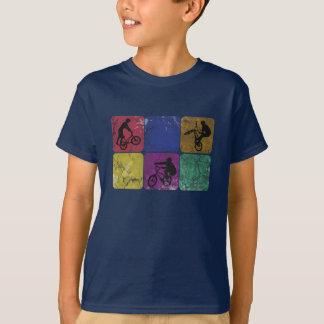 De verontruste Kinder T-shirt van de Fietser van