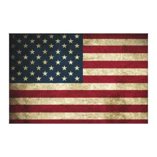 De verontruste Rustieke Amerikaanse Druk van de Canvas Afdrukken