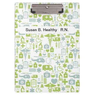 De verpleegster personaliseerde Medische Klemborde Klembord