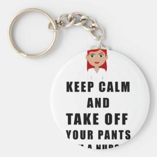 de verpleegster, stijgt uw broek op sleutelhanger