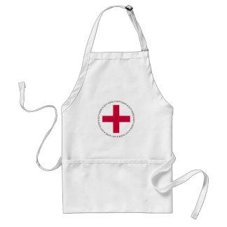 De Verpleegster van de plicht Standaard Schort