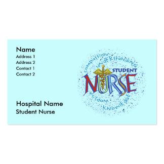 De Verpleegster van de student Visitekaartje