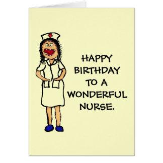 De Verpleegster van de verjaardag Briefkaarten 0