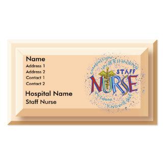 De Verpleegster van het personeel Visitekaartje