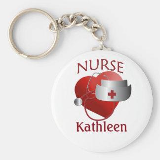 De verpleegsters noemen de Knoop Keychain van het Basic Ronde Button Sleutelhanger