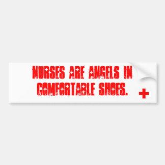 De verpleegsters zijn engelen in comfortabele scho bumpersticker