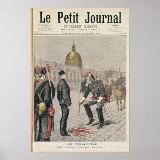 De verrader de Degradatie van Alfred Dreyfus Poster