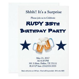 De Verrassing van de verjaardag 12,7x17,8 Uitnodiging Kaart