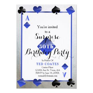 de verrassingsuitnodiging van de casinoverjaardag kaart
